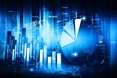 Economische effectenbeursgrafiek stock afbeelding