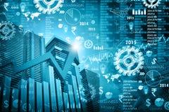 Economische effectenbeursgrafiek stock illustratie
