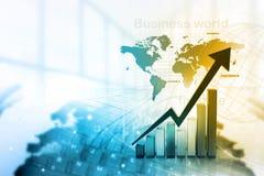 Economische effectenbeursgrafiek vector illustratie