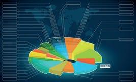 Economische en wiskundige regeling, diagram, overzicht,  Royalty-vrije Stock Foto's