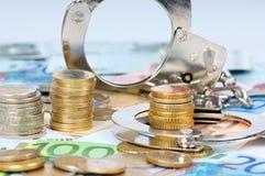 Economische fraude stock afbeeldingen