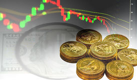 Economische grafiek en financiën Royalty-vrije Stock Foto