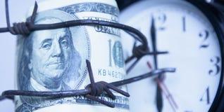 Economische oorlogvoering, sancties en embargo busting concept Dicht u stock foto's