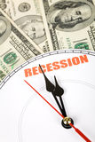 Economische Recessie Royalty-vrije Stock Foto