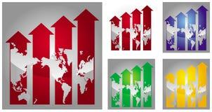 Economische recessiegrafiek vector illustratie