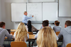 Economische studies bij universiteit Stock Foto's