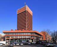 """Economische Universiteit van bouw van het Collegiumaltum van Poznan †de """"in Poznan, Polen Royalty-vrije Stock Foto's"""