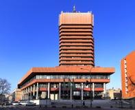 """Economische Universiteit van bouw van het Collegiumaltum van Poznan †de """"in Poznan, Polen Royalty-vrije Stock Foto"""