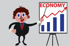 Economist showing some graphs royalty free stock photos