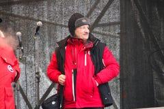 Economist Sergei Aleksashenko on the stage of Stock Photo