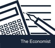 The economist on white background   Royalty Free Stock Images