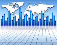 Economy. Stats,investment and profit Royalty Free Stock Images