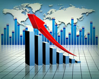 Economy. Global economy stats, finance and banking Royalty Free Stock Photos