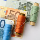 Economy. The financial concept about difficulties in the European economy Stock Images