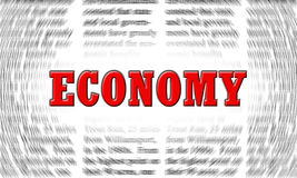 Economy. Written on a newspaper background Stock Image