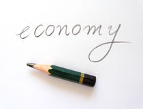 Economy. Bigger is better, but not always necessary Stock Photo