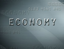 Economy. Close up of credit card style text with the word economy Royalty Free Illustration