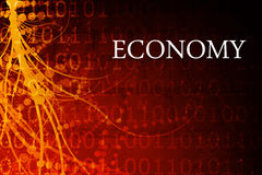 Economy Abstract. Background in Red and Black Royalty Free Stock Image