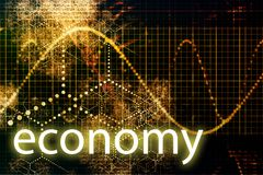 Economy Abstract Technology. Concept Wallpaper Background With Graph Royalty Free Stock Photo