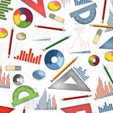 Economy accountant table desktop abstract background. Illustration Royalty Free Stock Photos