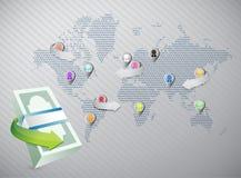 Economy around the globe Stock Images