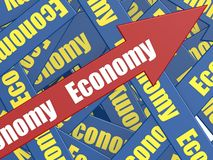 Economy arrow Stock Image
