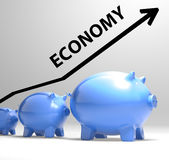 Economy Arrow Means Economic System And Finances Royalty Free Stock Image