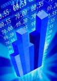 Economy_background. Blue economy background with graphs and numbers Stock Photo