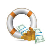 Economy bailout illustration. Over a white background vector illustration