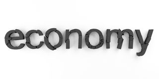 Economy broken Stock Photo