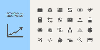 Economy and business icons Royalty Free Stock Photos