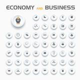 Economy and business icons Royalty Free Stock Image