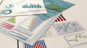 Economy charts Royalty Free Stock Photography