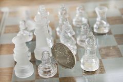 Economy is a chess match Stock Image