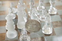 Economy is a chess match Royalty Free Stock Images