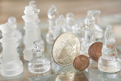 Economy is a chess match Royalty Free Stock Photo