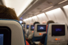 Economy  class cabin. Stock Photography