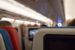 Economy  class cabin. Royalty Free Stock Photos