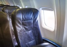 Economy Class seats for passengers on commercial aircraft. royalty free stock photography