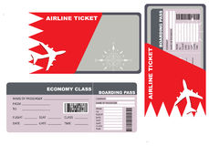 Economy class ticket for Bahrain Stock Image