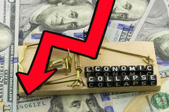 The economy in collapse Royalty Free Stock Photo