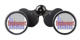 Economy concept binoculars Stock Photo