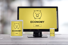 Economy concept on different devices Stock Images