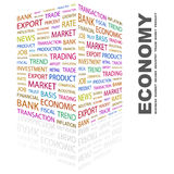 ECONOMY. Concept illustration. Graphic tag collection. Wordcloud collage Stock Image