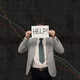 Economy crash - Ask help Stock Images