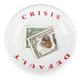 Economy crisis of dollar currency concept photo Stock Images