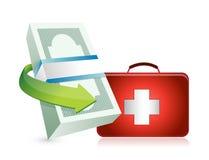 Economy crisis protection kit illustration Royalty Free Stock Image