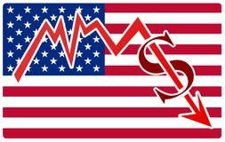 Economy crisis in USA Stock Image