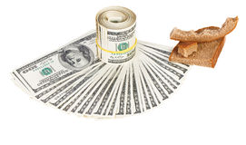 Economy crisis of USA dollar currency concept Stock Image