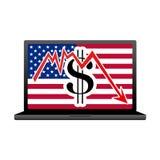 Economy crisis in USA. Illustration on white Stock Photo